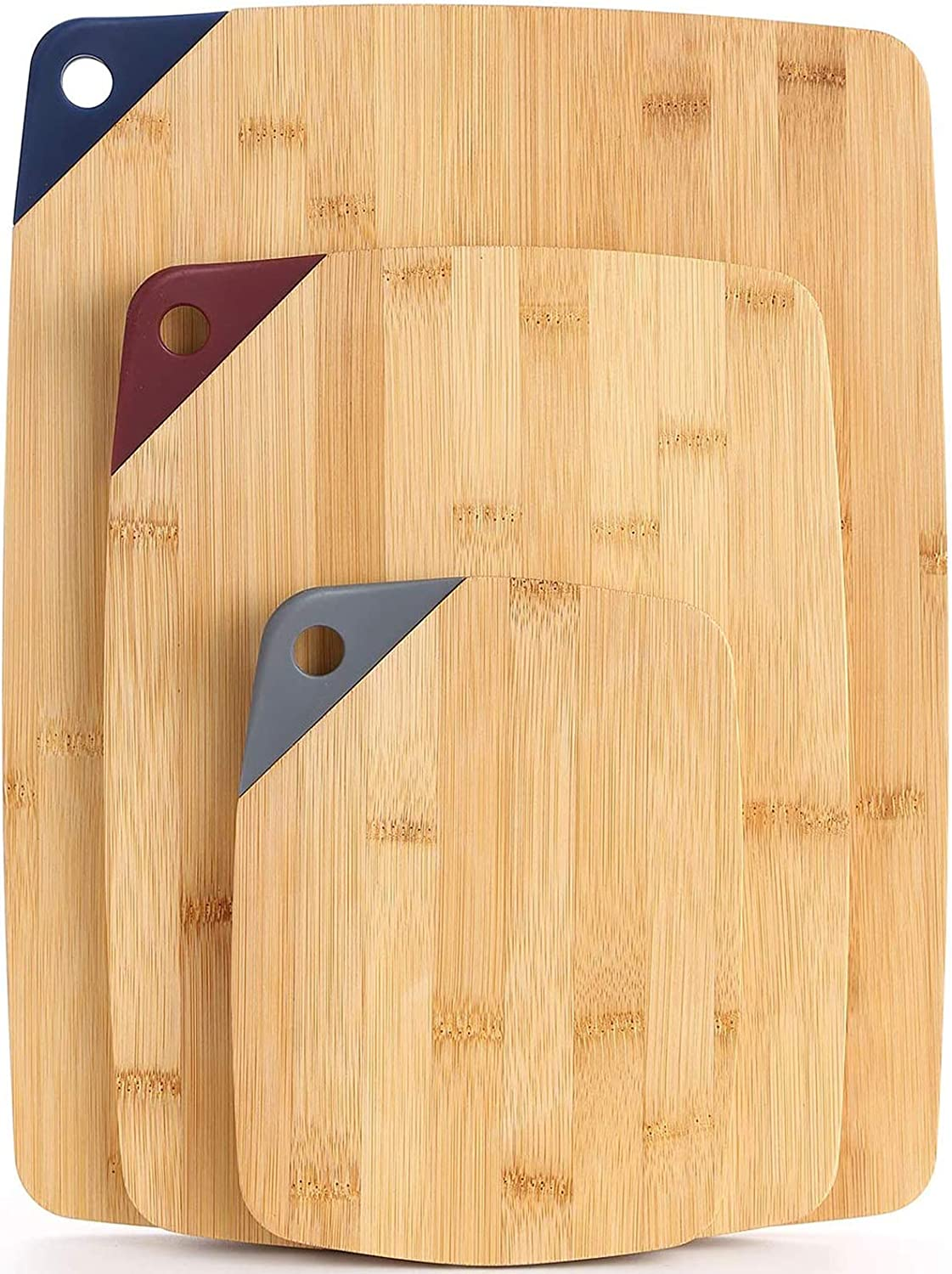 Super special Free shipping price Bamboo Cutting Board Set CHASUNG Wooden 3Piece -
