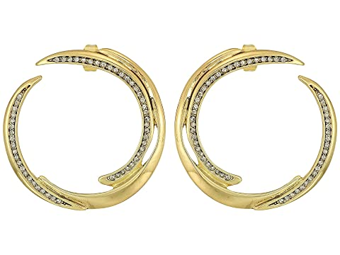 HOUSE OF HARLOW 1960 Wave Statement Earrings, Gold
