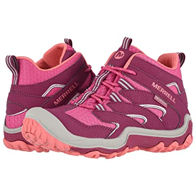 Merrell Kids Chameleon 7 Access Mid Waterproof (Little Kid/Big Kid) (Berry) Girls Shoes