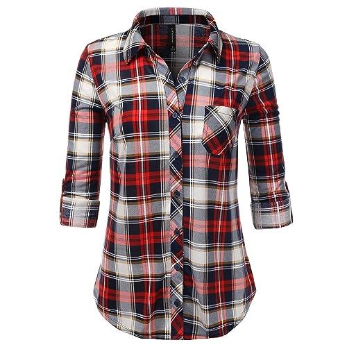 6a0f21279 Women s Plaid Shirt  Amazon.com