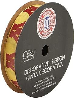 Offray University of Minnesota Golden Gophers Fabric, 9/16