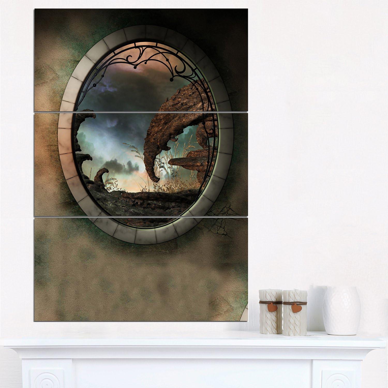 Designart Blue メーカー公式 Fantasy Landscape with Pri Photo Art Canvas Frame デポー