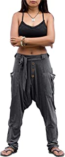 Thaluta Women's Harem Loose Yoga Travel Lounge Pants with Pockets Casual Boho