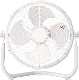 [山善] 扇風機 30cm 床置き ダイヤルスイッチ 無段階風量調節 4枚羽根 (換気 / 空気循環) DCモーター搭載 ホワイト YMY-D30(W) [メーカー保証1年]