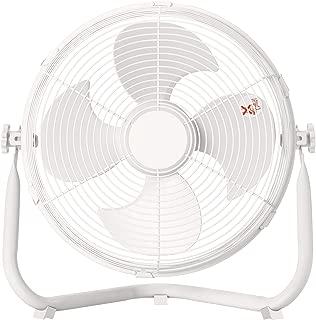 [山善] 扇風機 30cm 床置き ダイヤルスイッチ 無段階風量調節 4枚羽根 DCモーター搭載 ホワイト YMY-D30(W) [メーカー保証1年]