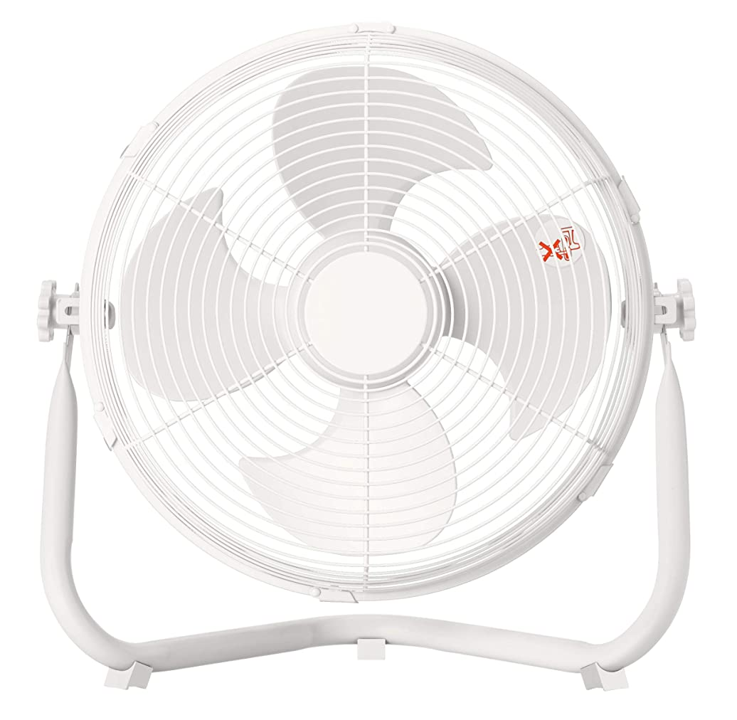 アンカーフレキシブルハシー山善 扇風機 30cm 床置き ダイヤルスイッチ 無段階風量調節 4枚羽根 DCモーター搭載 ホワイト YMY-D30(W)