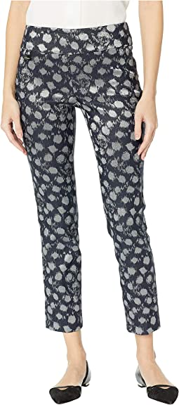 Silver Splash Pattern Ankle Pants