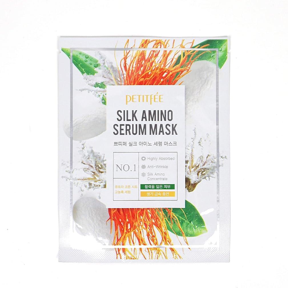 銅思春期の羊の服を着た狼PETITFEE (プチペ) シルクアミノセラムマスク 25gx10P (保湿) / Silk Amino Serum Mask