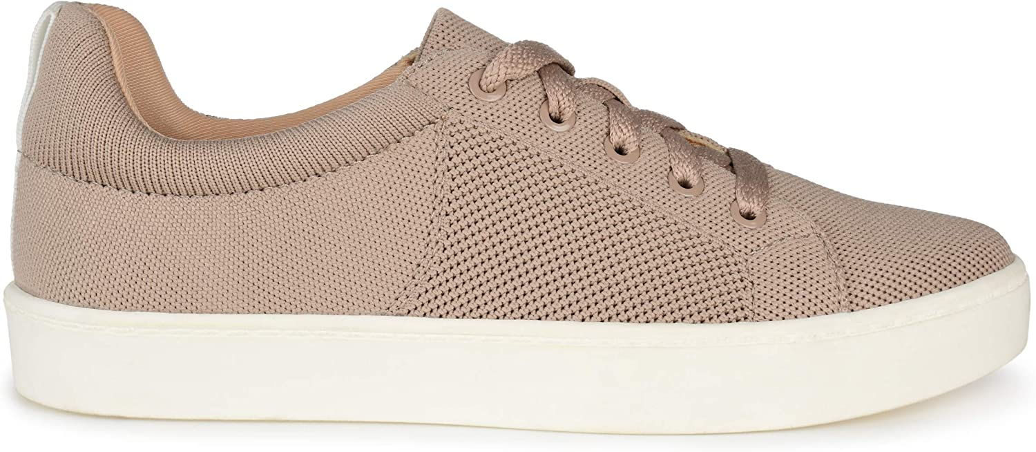 Brinley Co. Womens Comfort Lace-Up Knit Sneakers Foam Popular products 5% OFF