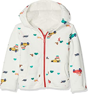 Joules Kids Mens Reversible Printed Zip-up Fleece (Infant)