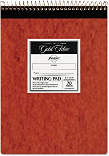Gold Fibre Retro Pad, Wide Rule, 8-1/2 x 11-3/4, Antique Ivory, 70-Sheets/Pad (20-008R)