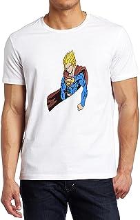 Game4lifePrints Goku de Bola de dragón y Superman Fusion supergoku Saiyan Anime Camiseta Custom Fruit of The Loom T-Shirt