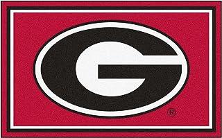 FANMATS NCAA University of Georgia Bulldogs Nylon Face 4X6 Plush Rug