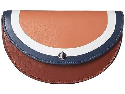Kate Spade New York Andi Stripe Small Half Moon Belt Bag (Tawny Multi) Handbags