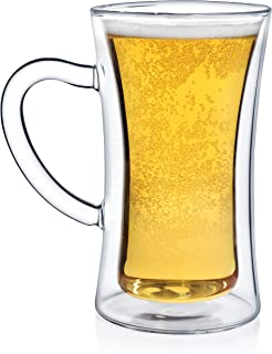 Dragon Glassware Beer Glass, Premium Designer Mug with Insulated Double-Walled Design, 13.5-Ounces, Gift Boxed