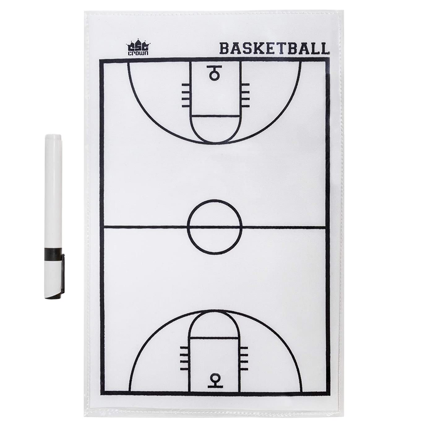 Crown Sporting Goods Dry Erase Basketball Coaches Strategy & Tactic Sheet – 14