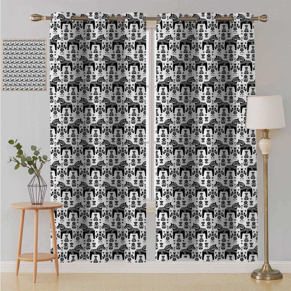 Yahonwa Nordic Living Sale Special Price half Room Curtain Folk with Daleca Swedish Art