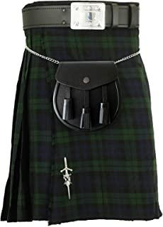 IRISH//Celtic Piper/'s KILT Boucle de ceinture Set avec trèfle design
