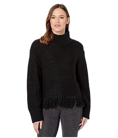 New Balance Balance Fringe Sweater (Black) Women