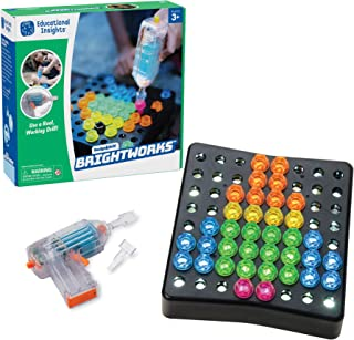 Educational Insights Design & Drill BrightWorks: Over 80 Pieces-Preschool Light Up Drill Toy, STEM Learning