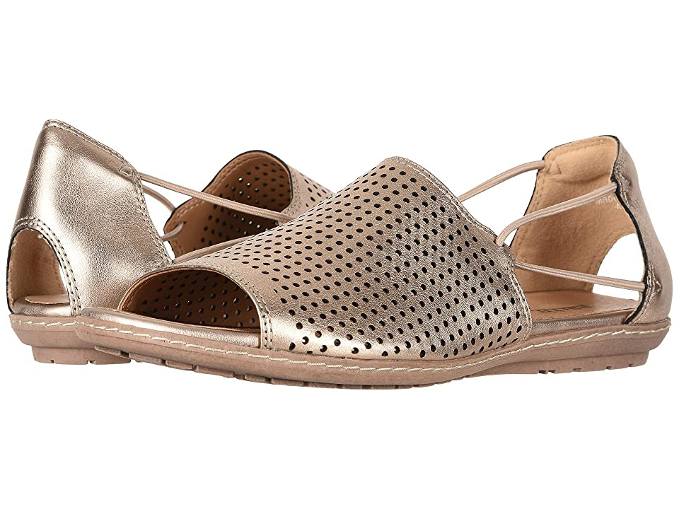 Earth Shelly (Champagne Metallic Leather) Women