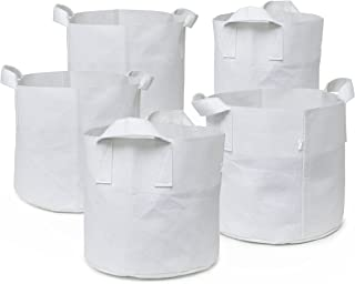 247Garden Aeration Fabric Pots/Plant Grow Bags w/Handles (Multi-Pack) (2-Gallon, White)