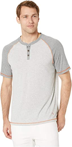 Short Sleeve Henley with Wicking