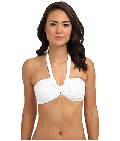 Seafolly Bandeau Top (White) Women