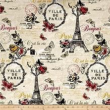 Fabri-Quilt C'est La Vie Paris Ecru Fabric by The Yard,
