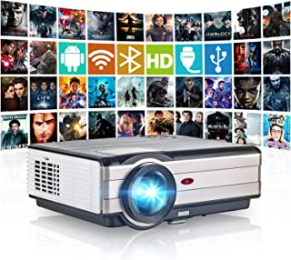 HD Bluetooth Wireless Projector WiFi HDMI 4200 Lumen Portable LED LCD Movie Gaming Android Projector Multimedia 1080P Vide...