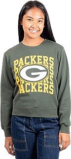 Ultra Game NFL Green Bay Packers Womens Extra Soft Snow Distressed Fleece Long Sleeve Sweatshirt, Team Color, Medium