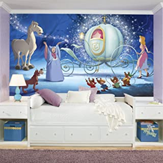 RoomMates Disney Princess Cinderella Carriage Removable Wall Mural - 10.5 feet X 6 feet