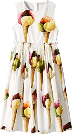 Dolce & Gabbana Kids - Gelato Poplin Dress (Big Kids)