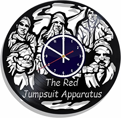 The Red Jumpsuit Apparatus rock band Wall clock made from real vinyl record, The Red