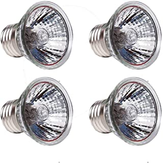 CTKcom 25W UVB Light UVA Bulb Halogen Basking Bulb(4 Pack)- 110V Full Spectrum Reptilian Lamp Lizard Lamp UV Heating Lamp ...