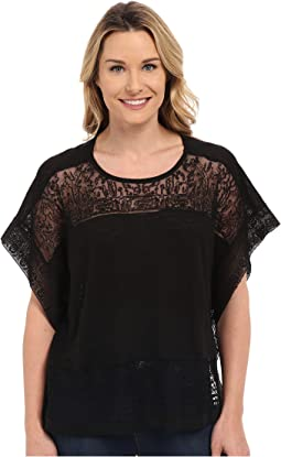 Lucky Brand - Scarf Embroidered Top