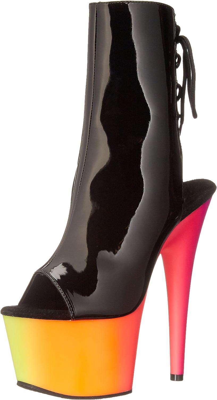 Pleaser RBOW1018UV-7 B NMC Women's Boot Black Multicolor