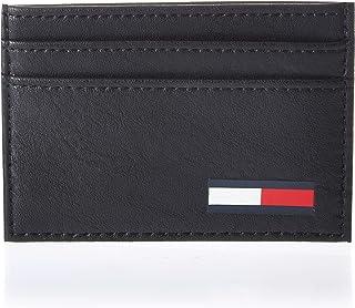 حقيبة كتف جلدية للرجال من تومي جينز، باللون الاسود - AM0AM05974