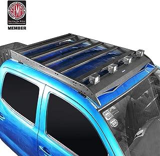 u-Box Tacoma Roof Rack Storage Cargo Basket Luggage Carrier w/4 X 18W LED Spotlight for 2005-2019 2nd Gen 3rd Gen Toyota Tacoma 4 Doors