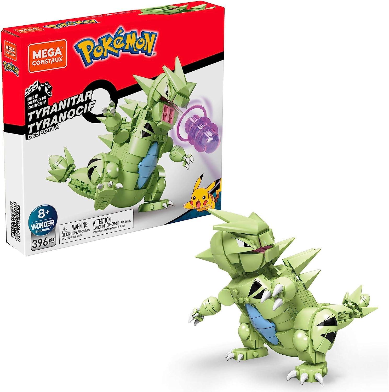 Mega Construx GMD32 - Mega Construx Pokémon Tyranitar (15 cm), Bauset mit  beweglicher Figur, Spielzeug ab 8 Jahren: Amazon.de: Spielzeug