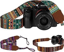 Pawia Vintage Camera Strap DSLR SLR Tribal Pattern Universal Sling Shoulder Neck Belt Compatible Straps for Canon Nikon Sony Pentax Fujifilm Olympus (Pattern 1)