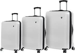 Italy Moda Hardside Spinner Luggage 3 Piece Set, White