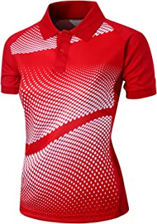 Xpril Women's Cool Max Fabric Sporty Design Printed Polo T-Shirt