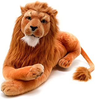 VIAHART Lasodo The Lion | 3 1/2 Foot (Tail Measurement not Included!) Big Stuffed Animal Plush Cat | Shipping from Texas | by Tiger Tale Toys