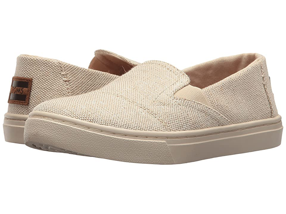 TOMS Kids Luca (Little Kid/Big Kid) (Natural Metallic Jute) Girl