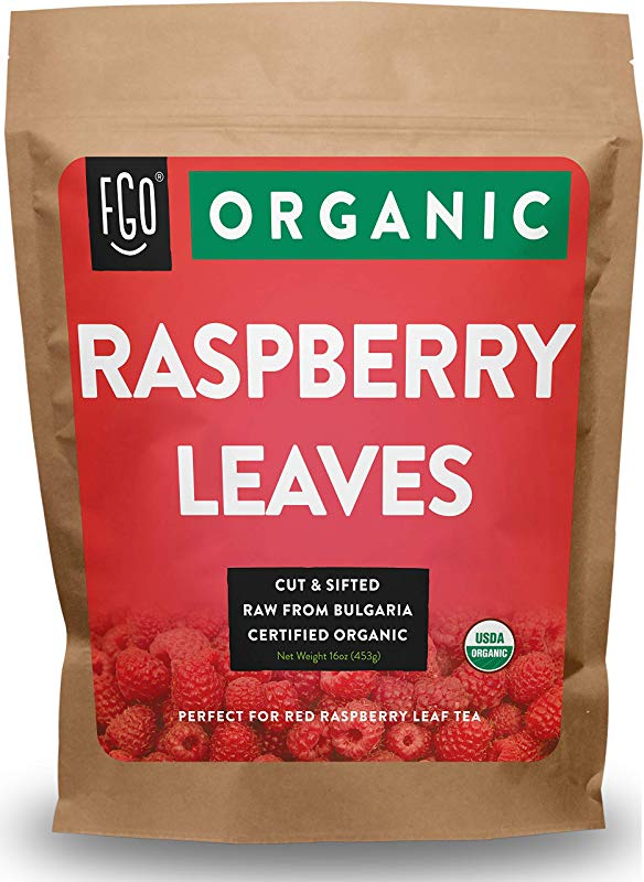 Organic Red Raspberry Leaf Herbal Tea 200 Cups Cut Sifted Leaves 16oz Resealable Bag 1lb 100 Raw From Bulgaria