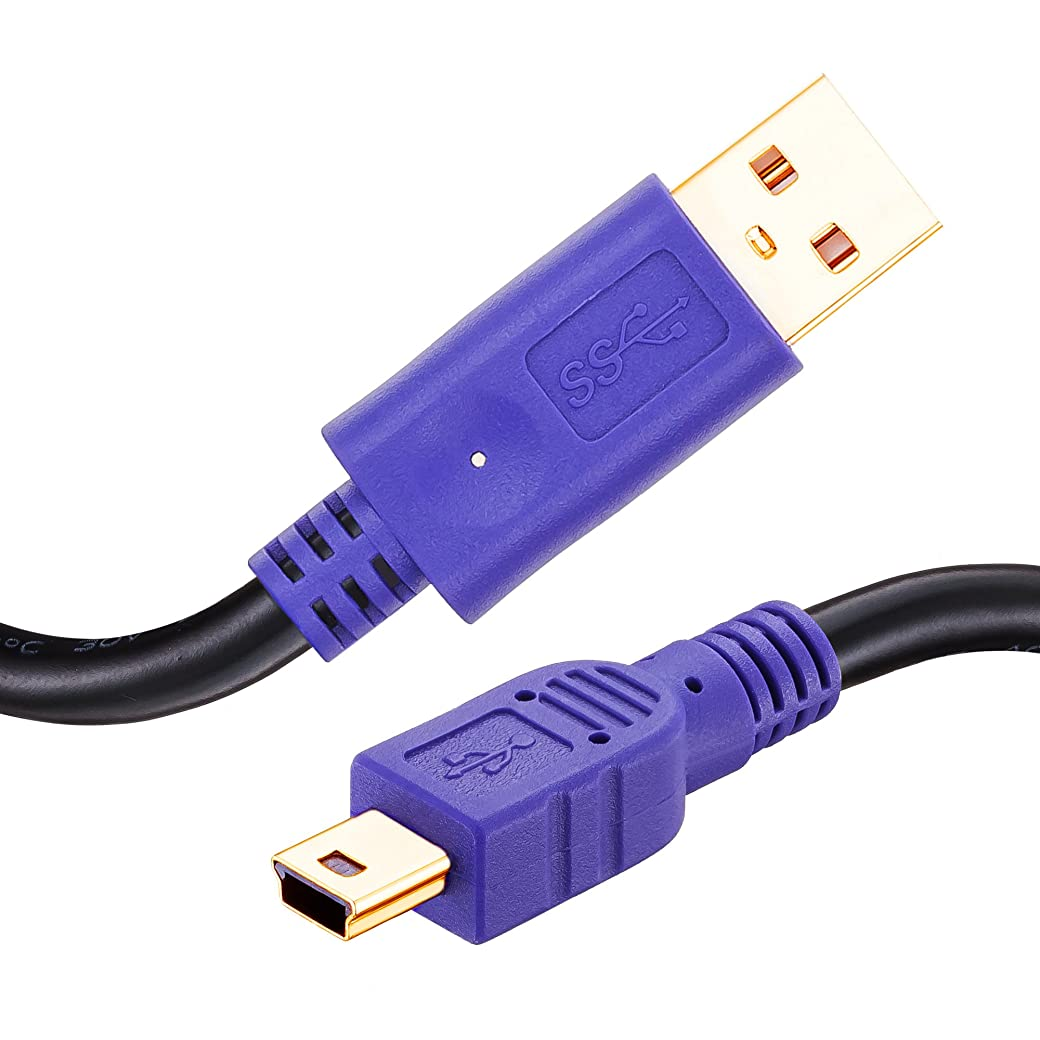 囲い無意識アラスカLiuTianミニUSBケーブル USB2.0 Aオス-miniBオス 金メッキコネクタ PS3 ドライブレコーダー デジカメ HDD等に対応 8m