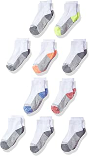 Little Boys' Half Cushion Ankle Socks (10 Pack)