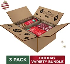 Starbucks Holiday Bundle   Holiday Cookie Straws & Two Ground Coffees   10 Ounce Bag Of Holiday Blend Coffee, 11 Ounce Bag Of Peppermint Mocha Flavored Coffee & A Tin of 20 Holiday Cookie Straw