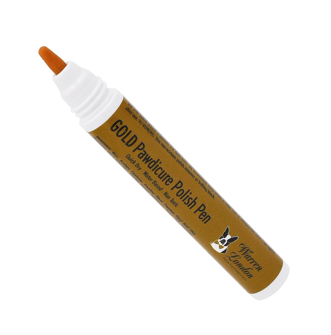 猟犬評価可能クローゼットWarren London Pawdicure Polish Pen for Dogs, Gold by Warren London